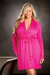 Shirley Of Hollywood Plus Size Soft Knit Robe
