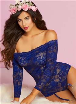 Picture Perfect Sexy Lace Snap Crotch Teddy