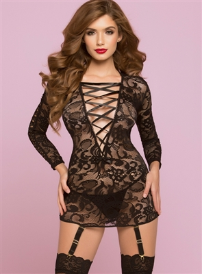 All Night Long Lace Chemise Set