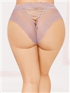 Jennifer Plus Size Panties With Lace Up Back
