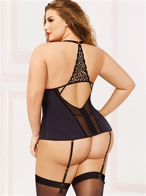 Sexy Back Plus Size 2PC Bustier Set