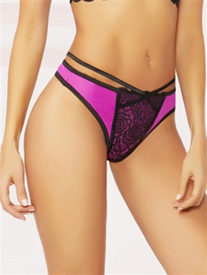 Catalina Lace Thong With Strappy Back