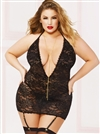 Chain Me Up Slimming Plus Size Chemise 3 PC Set