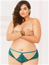 Lace Strappy Open Crotch Plus Size Thong