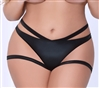 Shiny Stretch Crotchless Cutout Plus Size Panties