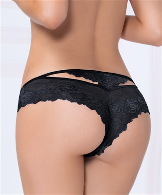 Sexy Rose Lace Hipster With Back Cutout