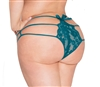 Strappy Lace Plus Size  Panties With Back Bows