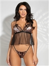 Leopard And Mesh Camidoll 2 PC Set