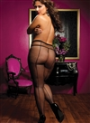 Plus Size Backseam Fishnet Pantyhose