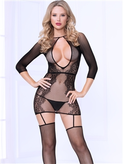 Seamless Open Back Dress Bodystocking