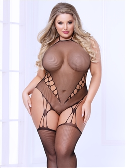 Plus Size Teddy Like Bodystocking