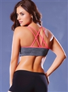 Strappy Back Push-up Sports Bra