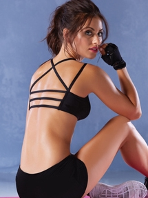 Sure Shot Strappy Back Sports Bra