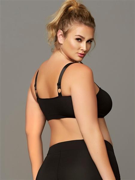 New women sports bra Black seamless athletic bondage 1X//2X 3X//4X 30135X