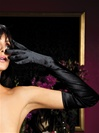Satin Opere Length Gloves
