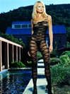 Opaque Criss Cross Bodystocking