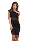 Assymmetrical Illusion Detailing  Club Dress