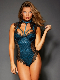 Luxurious Eeylash Lace Snap Crotch Teddy