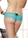 Open Crotch Lace Cheeky Panties