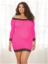 Sexy Semi-Sheer Plus Size 2 PC Tunic Set