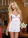 Hearts Desire Bridal Babydoll 2 PC Set