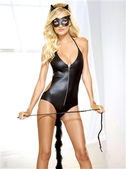 Fetish Feline 4 PC Set With Whip