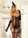 "Sexy ""Flirty Flapper"" Babydoll 3 PC Set"