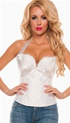 Satin Push Up Bow Front Corset