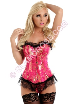 Luxurious  Lace Up Corset With G-String