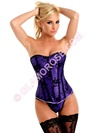 Lace Up Corset With G-String