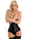 Satin Underbust Corset With G-String