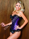 Purple Orchid Burlesque Corset Set