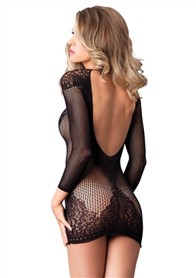 Open Back Sexy Net Chemise