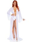 Vintage Hollywood Faux Fur Trimmed Robe 3 PC Set
