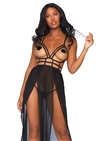 Open Cup Strappy Gown Set