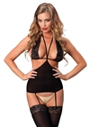 Cut Out Suspender Bodystocking