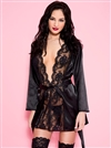 Satin And Lace Lace Robe Set