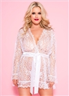 Plus Size Sexy Lace Robe