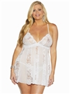 Shirley Of Hollywood Soft Plus Size Babydoll Set