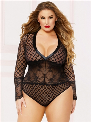 Slimming Snap Crotch Plus Size Teddy