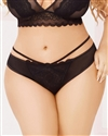 Catalina Plus Size Lace Thong With Strappy Back