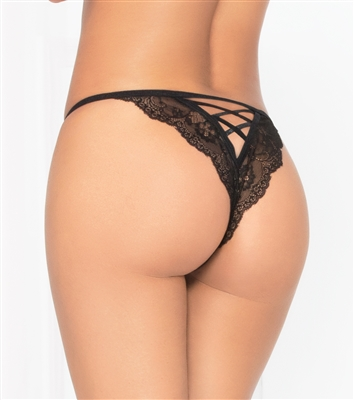 LaceUp Back Sexy Open Crotch Panty