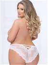 Lace And Mesh Plus Size Panties With Strappy Back Cutout