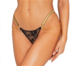Cascading Chains Lace G-String